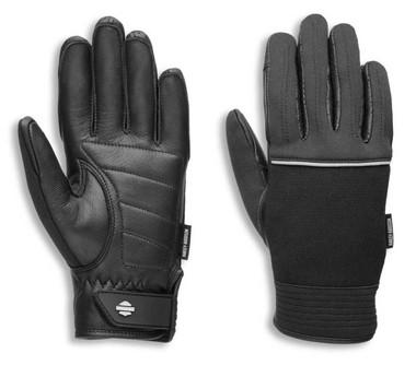 Harley-Davidson Women's Brady Mixed Media Full-Finger Gloves, Black 97114-21VW - Wisconsin Harley-Davidson