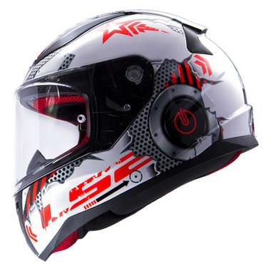 LS2 Helmets Rapid Mini Machine Full Face Motorcycle Youth Helmet, White - Wisconsin Harley-Davidson