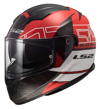 LS2 Helmets Stream Kub Full Face Sun Shield Motorcycle Helmet, Black & Red - Wisconsin Harley-Davidson