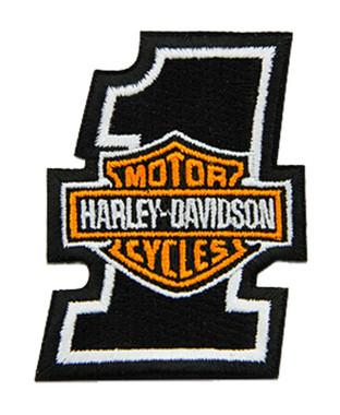Harley-Davidson 2 inch Embroidered #1 Bar & Shield Logo Emblem Sew-On Patch - Wisconsin Harley-Davidson