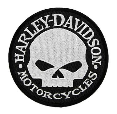 Harley-Davidson 4 in. Embroidered Willie G Skull Logo Small Emblem Sew-On Patch - Wisconsin Harley-Davidson