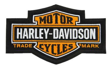 Harley-Davidson 7.25 in. Embroidered Trademark Bar & Shield Emblem Sew-On Patch - Wisconsin Harley-Davidson