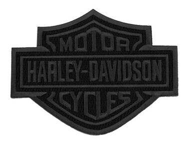 Harley-Davidson 4 inch Embroidered Black Bar & Shield Logo Emblem Sew-On Patch - Wisconsin Harley-Davidson