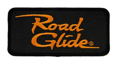 Harley-Davidson 4 in Embroidered Road Glide Emblem Sew-On Patch - Black/Orange - Wisconsin Harley-Davidson