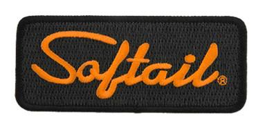 Harley-Davidson 4.125 in Embroidered Softail Emblem Sew-On Patch - Black/Orange - Wisconsin Harley-Davidson