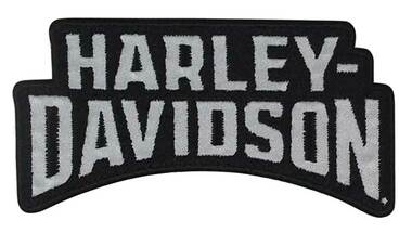 Harley-Davidson 4 inch Reflective Embroidered Stacked H-D Emblem Sew-On Patch - Wisconsin Harley-Davidson