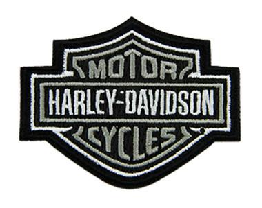 Harley-Davidson 3 inch Embroidered Gray Bar & Shield Logo Emblem Sew-On Patch - Wisconsin Harley-Davidson