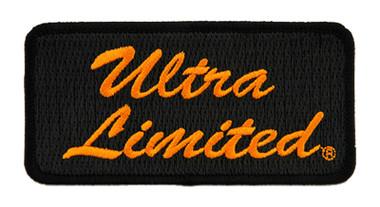 Harley-Davidson 4in Embroidered Ultra Limited Emblem Sew-On Patch - Black/Orange - Wisconsin Harley-Davidson