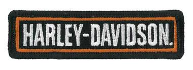 Harley-Davidson 3.5 inch Embroidered Bold H-D Script Emblem Sew-On Patch - Black - Wisconsin Harley-Davidson