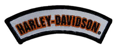 Harley-Davidson 4 inch Reflective Embroidered Rocker H-D Emblem Sew-On Patch - Wisconsin Harley-Davidson