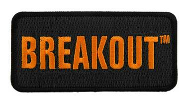 Harley-Davidson 4 in Embroidered Breakout Emblem Sew-On Patch - Black/Orange - Wisconsin Harley-Davidson
