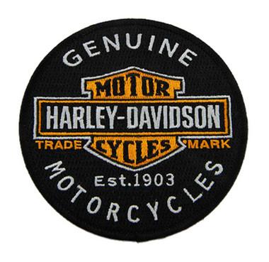Harley-Davidson 4 in Embroidered Genuine Motorcycles Bar & Shield Emblem Patch - Wisconsin Harley-Davidson