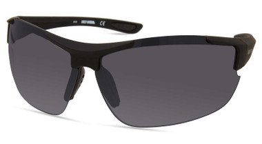 Harley-Davidson Men's Sport Wrap Sunglasses, Matte Black Frame/Smoke Lenses - Wisconsin Harley-Davidson