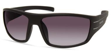 Harley-Davidson Men's Wide Temple Sunglasses, Matte Black Frame/Gradient Lenses - Wisconsin Harley-Davidson