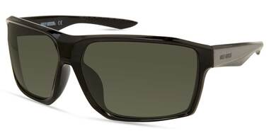 Harley-Davidson Men's Geometric Edge Sunglasses, Shiny Black Frame/Green Lenses - Wisconsin Harley-Davidson