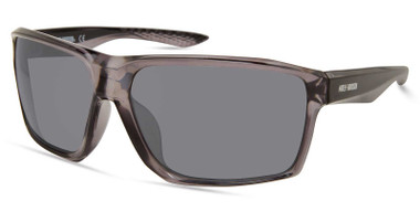 Harley-Davidson Men's Geometric Edge Sunglasses, Gray Frame/Smoke Mirror Lenses - Wisconsin Harley-Davidson