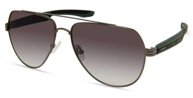 Harley-Davidson Men's Metal Aviator Sunglasses, Gunmetal Frame/Green Lenses - Wisconsin Harley-Davidson