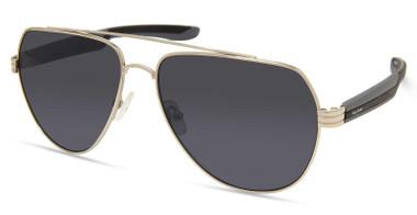 Harley-Davidson Men's Metal Aviator Sunglasses, Nickeltin Frame/Smoke Lenses - Wisconsin Harley-Davidson