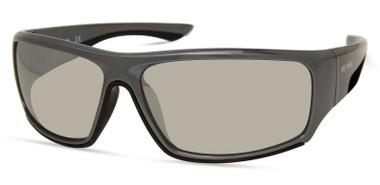 Harley-Davidson Men's Wide Wrap Sunglasses, Gray Frame/Smoke Mirror Lenses - Wisconsin Harley-Davidson