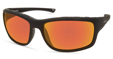 Harley-Davidson Men's Venting Wrap Sunglasses, Matte Black Frame/Mirror Lenses - Wisconsin Harley-Davidson