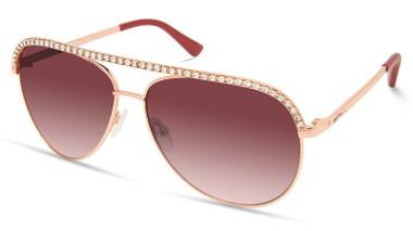 Harley-Davidson Womens Bling Aviator Sunglasses, Rose Gold Frame/Gradient Lenses - Wisconsin Harley-Davidson