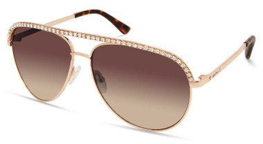 Harley-Davidson Women's Bling Aviator Sunglasses, Gold Frame/Gradient Lenses - Wisconsin Harley-Davidson