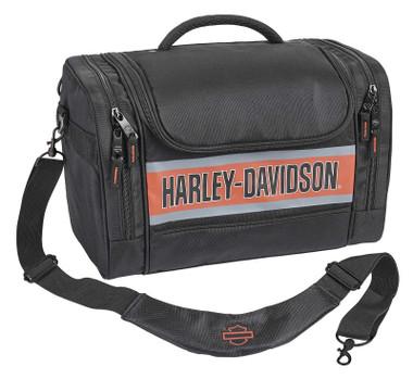 Harley-Davidson Trailblazer Hop Along Travel Duffel Bag - Black/Rust Vintage - Wisconsin Harley-Davidson