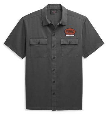 Harley-Davidson Men's HDMC Mechanics Short Sleeve Shirt - Asphalt 96449-21VM - Wisconsin Harley-Davidson
