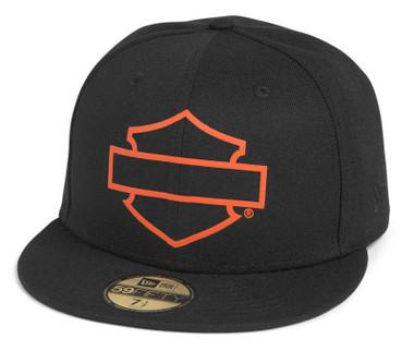 Harley-Davidson Men's Open B&S Logo 59FIFTY Baseball Cap, Black 97696-21VM - Wisconsin Harley-Davidson