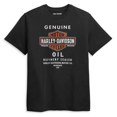 Harley-Davidson Men's Genuine Oil Can Short Sleeve Tee, Black 96416-21VM - Wisconsin Harley-Davidson