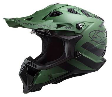 LS2 Helmets Subverter EVO Cargo Full Face MX Motorcycle Helmet, Matte Green - Wisconsin Harley-Davidson