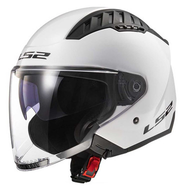 LS2 Helmets Copter Open Face Sun Shield Motorcycle Helmet - Solid Gloss White - Wisconsin Harley-Davidson