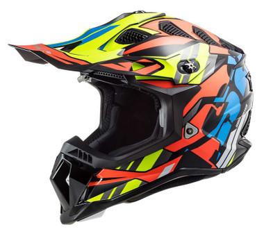 LS2 Helmets Subverter EVO Rascal Full Face Motorcycle Helmet, Black/Orange - Wisconsin Harley-Davidson