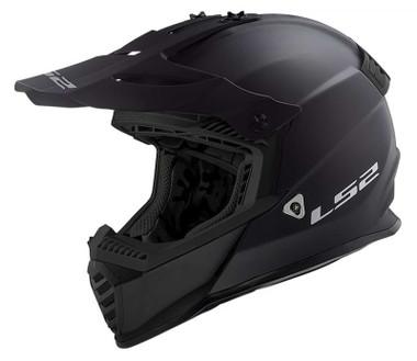 LS2 Helmets Gate Solid Full Face MX Motorcycle Helmet, Solid Matte Black - Wisconsin Harley-Davidson