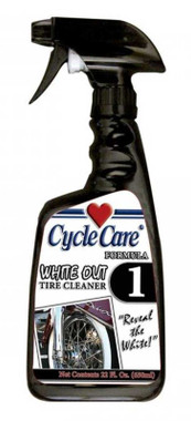 Cycle Care Formula 1 - Motorcycle Brilliant Whitewall Tire & Wheel Non-Corrosive Cleaner to Remove Grease, Oil, Road Dirt and Brake Dust - 22 oz. - Wisconsin Harley-Davidson