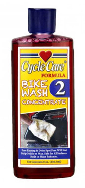 Cycle Care Formula 2 - Motorcycle Bike Wash Concentrate Gentle Wetting Agent Shampoo Cleaner, Soften Road Grime and Soil to Prevent Abrasion - 8 oz. - Wisconsin Harley-Davidson