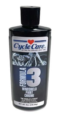 Cycle Care Formula 3 - Motorcycle & Automotive Windshield, Paint & Chrome Glass-Like Shine Polish, Repels Water - 8 oz. - Wisconsin Harley-Davidson