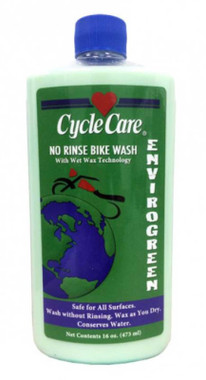 Cycle Care Formula ENVIROGREEN - Motorcycle No Rinse Bike Wash with Wet Wax Technology Cleaner, Safe for All Surfaces, Waxes Well You Dry - 16 oz. - Wisconsin Harley-Davidson