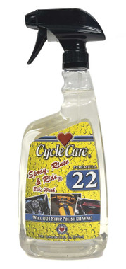 Cycle Care Formula 22 - Motorcycle Spray Rinse and Ride Bike Wash Cleaner Solution Without Striping Polish or Wax - Quart 32 oz. - Wisconsin Harley-Davidson