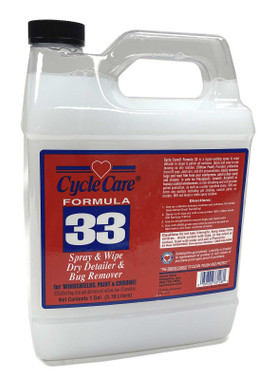 Cycle Care Formula 33 - Motorcycle & Automotive Spray and Wipe Instant Cleaner Residue Remover Detailer and Polish, Non-Streaking and High Protection - 1 Gallon - Wisconsin Harley-Davidson
