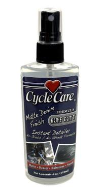 Cycle Care Formula RuffCutt - Motorcycle Denim Matte Flat Finish Spray & Wipe Instant Detailer Spray Cleaner, No Gloss or Streak Formula - 4 oz. - Wisconsin Harley-Davidson