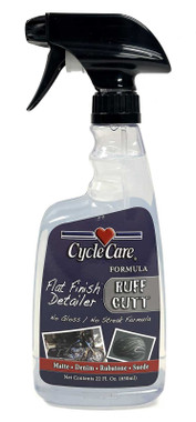 Cycle Care Formula RuffCutt - Motorcycle Denim Matte Flat Finish Spray & Wipe Instant Detailer Spray Cleaner, No Gloss or Streak Formula - 22 oz. - Wisconsin Harley-Davidson