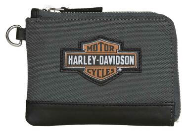 Harley-Davidson Women's Oil Can B&S Key Coin Purse Wallet - Polyester & Leather - Wisconsin Harley-Davidson