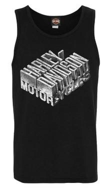 Harley-Davidson Men's Old Iron Attitude Sleeveless Crew-Neck Muscle Tank, Black - Wisconsin Harley-Davidson
