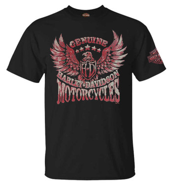 Harley-Davidson Men's Intense Dominion Short Sleeve Graphic Crew Tee - Black - Wisconsin Harley-Davidson