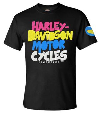 Harley-Davidson Men's Parts & Gears Short Sleeve Crew-Neck T-Shirt - Black - Wisconsin Harley-Davidson