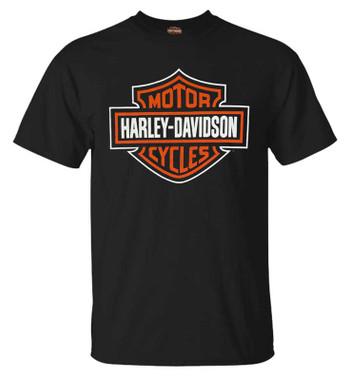 Harley-Davidson Men's Bar & Shield Logo Short Sleeve Crew-Neck T-Shirt, Black - Wisconsin Harley-Davidson