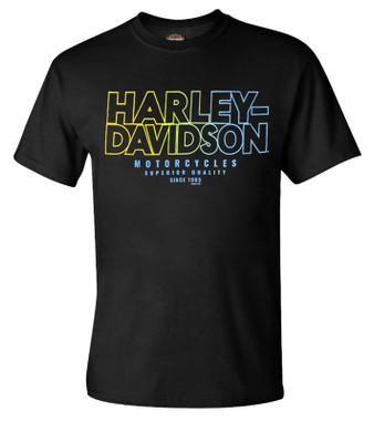 Harley-Davidson Men's Restless Throttle Short Sleeve Crew-Neck T-Shirt - Black - Wisconsin Harley-Davidson