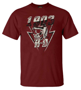 Harley-Davidson Men's Chrome Detail Crew-Neck Short Sleeve Graphic T-Shirt, Red - Wisconsin Harley-Davidson