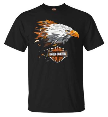 Harley-Davidson Men's Courageous Eagle Short Sleeve Crew-Neck Graphic T-Shirt - Wisconsin Harley-Davidson